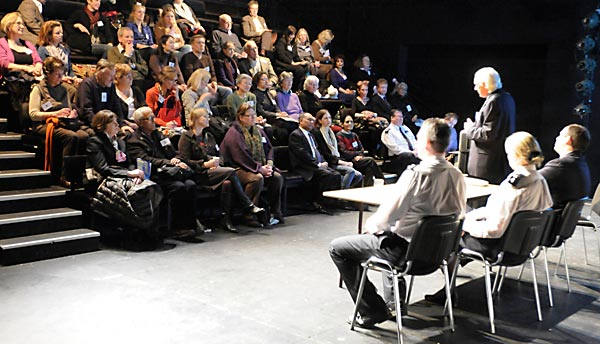 The event taking place in the Lyric Theatre's studio auditorium