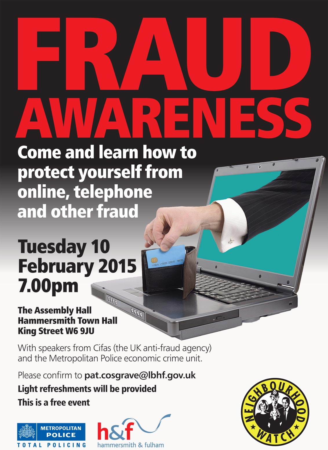 Fraud awareness event invitation